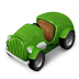 72x72px size png icon of Green Car