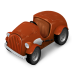 72x72px size png icon of Orange Car