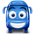 72x72px size png icon of bus blue