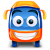 72x72px size png icon of bus orange