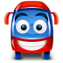 72x72px size png icon of bus red
