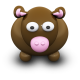 80x80px size png icon of BrownCow