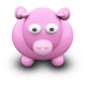 80x80px size png icon of PinkCow