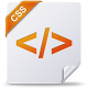 80x80px size png icon of css