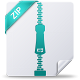 80x80px size png icon of zip