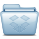 80x80px size png icon of Blue Dropbox