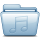 80x80px size png icon of Blue Music