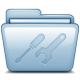 80x80px size png icon of Blue Utilities