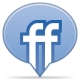 80x80px size png icon of social balloon friendfeed