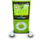 80x80px size png icon of iPodPhonesGreen
