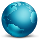 80x80px size png icon of network globe connected