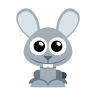96x96px size png icon of bunny