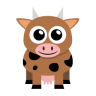 96x96px size png icon of cow