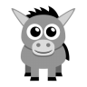 96x96px size png icon of donkey