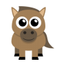 96x96px size png icon of horse