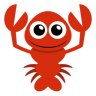 96x96px size png icon of lobster