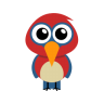 96x96px size png icon of parrot