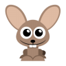 96x96px size png icon of rabbit