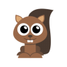 96x96px size png icon of squirrel