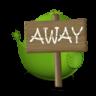96x96px size png icon of Adium Bird Away