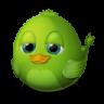 96x96px size png icon of Adium Bird Idle