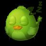 96x96px size png icon of Adium Bird Sleep