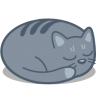 96x96px size png icon of cat sleep