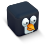 96x96px size png icon of penguin