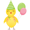 96x96px size png icon of party chicken
