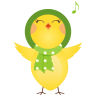 96x96px size png icon of singing chicken