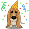96x96px size png icon of dog birthday