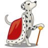 96x96px size png icon of dog dalmatian king