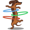 96x96px size png icon of dog hulahoop
