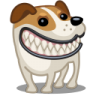96x96px size png icon of dog russel grin