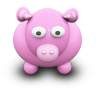 96x96px size png icon of PinkCow