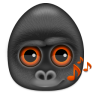 96x96px size png icon of monkeys audio