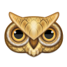 96x96px size png icon of owl