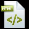 96x96px size png icon of File Adobe Dreamweaver HTML 01