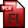 96x96px size png icon of File Adobe Flash 01
