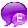 96x96px size png icon of Small Twitter Logo in Pink