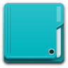 96x96px size png icon of Places folder cyan