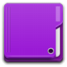 96x96px size png icon of Places folder violet