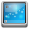 96x96px size png icon of Places user desktop