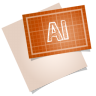 96x96px size png icon of adobe blueprint ai