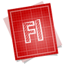 96x96px size png icon of adobe blueprint flash