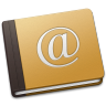 96x96px size png icon of Address Book Oldschool