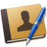 96x96px size png icon of Address Book blue