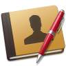 96x96px size png icon of Address Book red