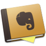 96x96px size png icon of Evernote Brown Alt