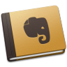 96x96px size png icon of Evernote Brown